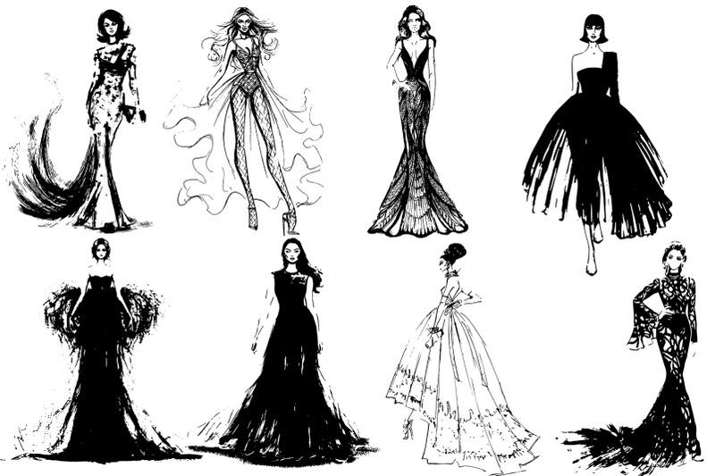 50-beautiful-girls-in-evening-dresses-vector