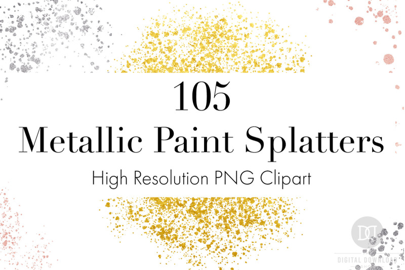metallic-paint-splatters-clipart-bundle