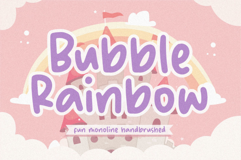 bubble-rainbow-fun-monoline-handbrushed-font