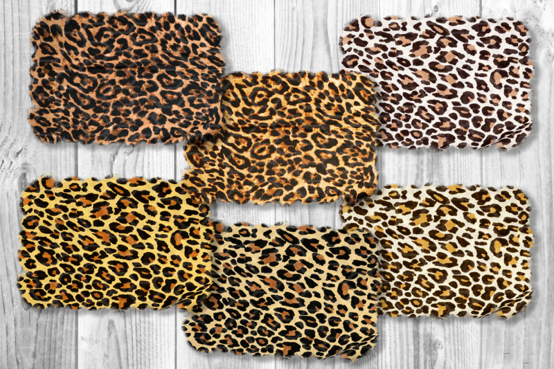 sublimation-leopard-png-background-set