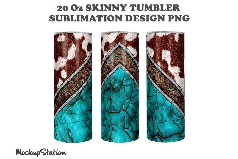 cowhide-20oz-skinny-tumbler-design-sublimation