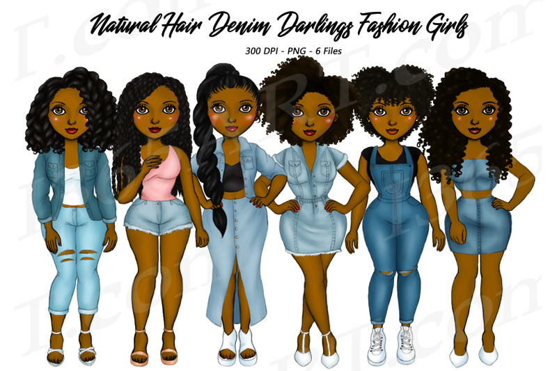 natural-hair-denim-girls-clipart-black-woman-clipart-png