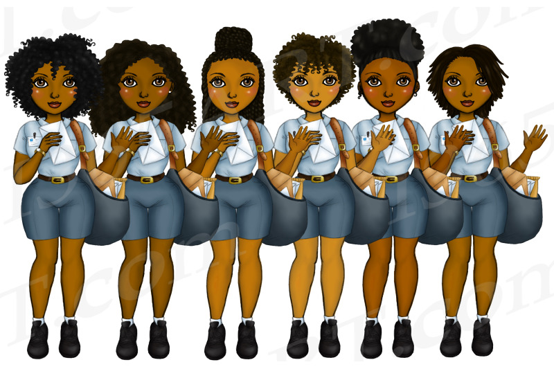african-american-postal-workers-clipart-black-woman-mail-png