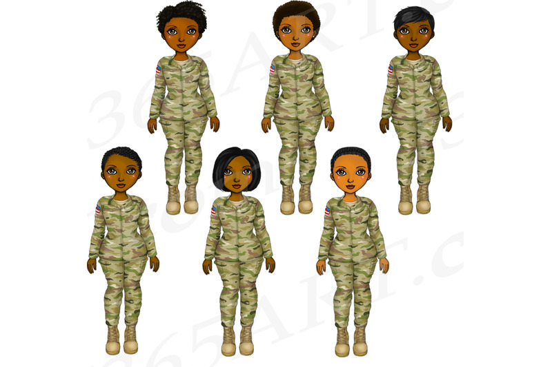 black-woman-soldiers-clipart-army-veterans-png