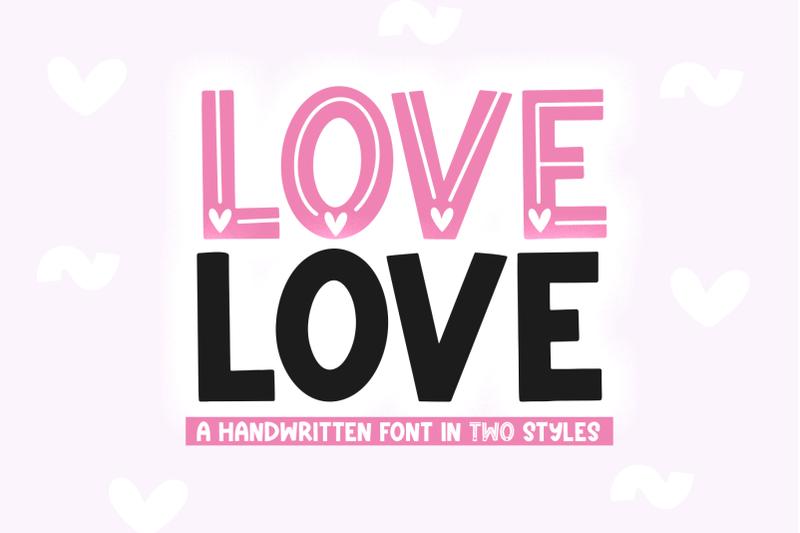 love-love-valentine-039-s-day-font
