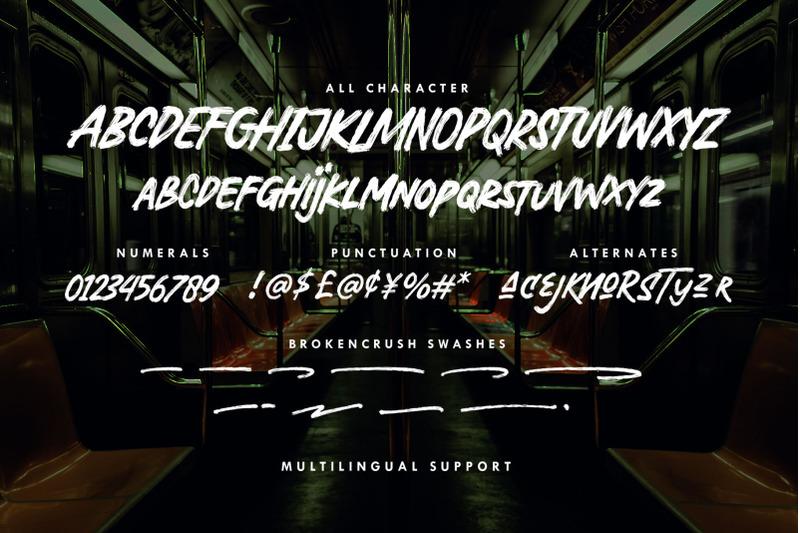 broken-crush-brush-font