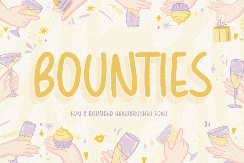 bounties-fun-amp-rounded-handbrushed-font