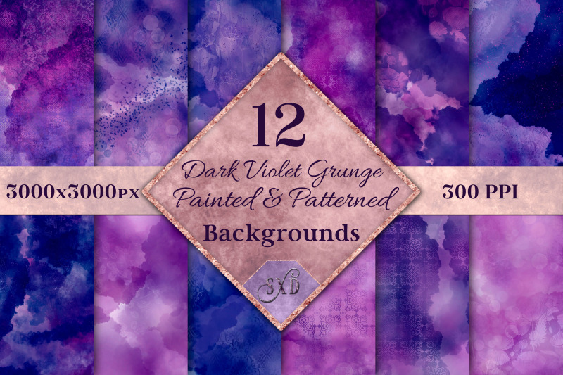 dark-violet-grunge-painted-and-patterned-backgrounds