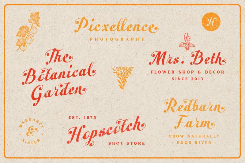 peacher-vintage-script-font