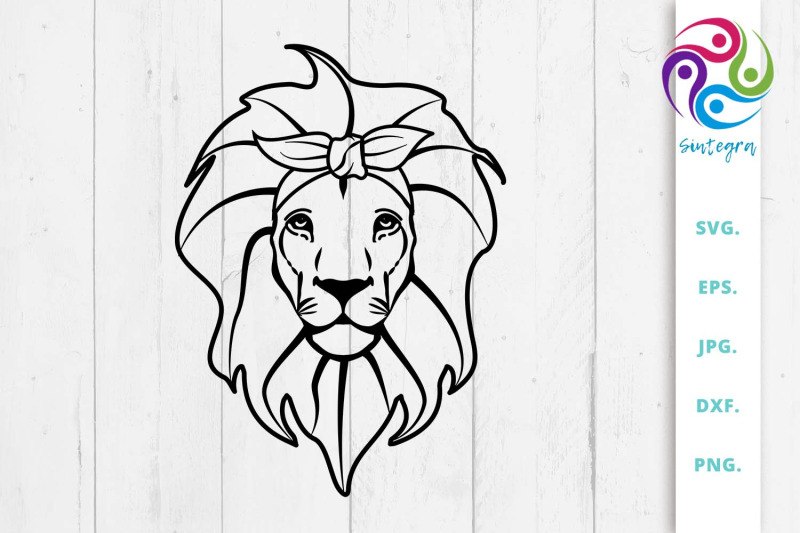 lion-bandana-svg-lion-scarf-svg