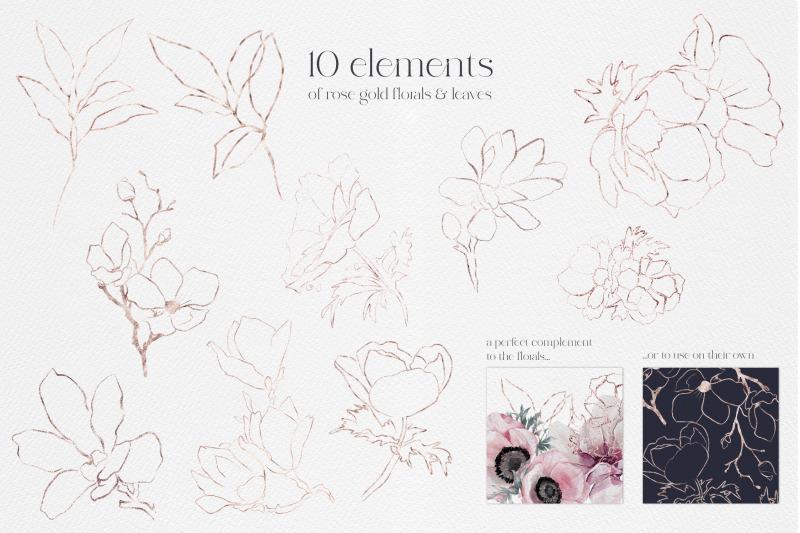 watercolor-flowers-florals-leaves-birds-bouquet-magnolias-valentines-w