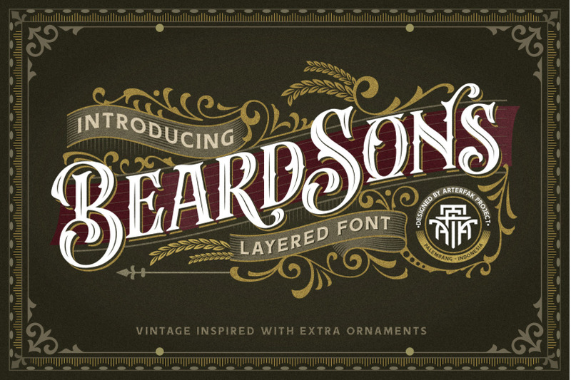 beardsons-layered-font