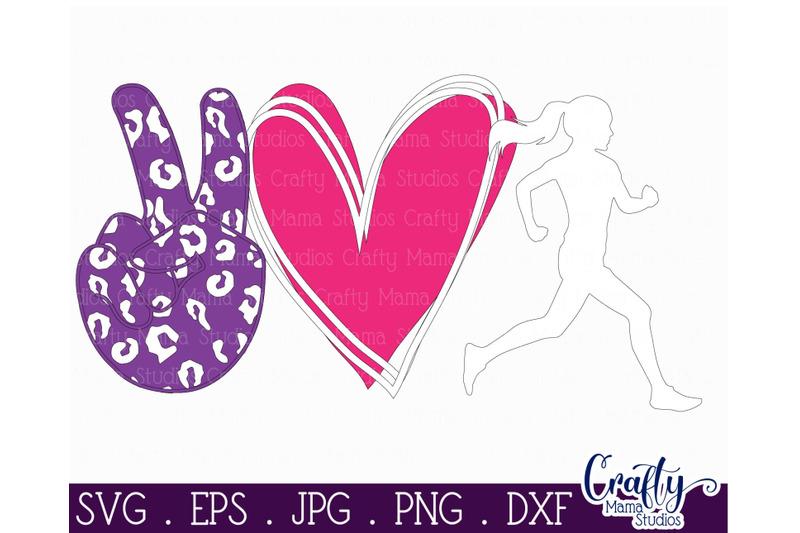 running-svg-exercise-runner-svg-peace-love-run-cut-file