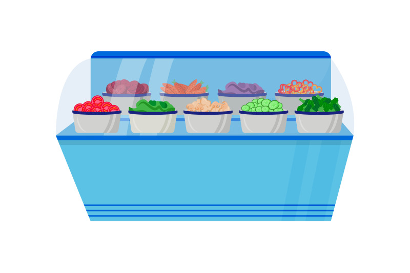 vegetable-counter-flat-color-vector-object