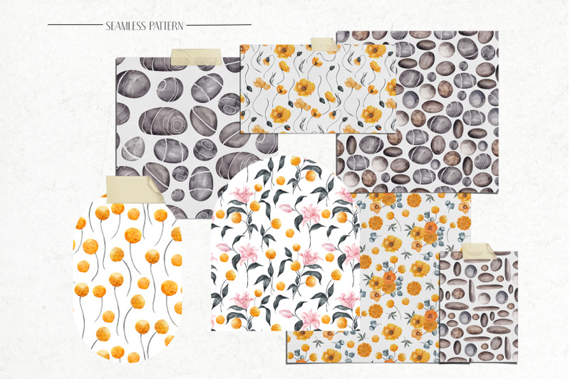 stone-garden-yellow-and-grey-illustration
