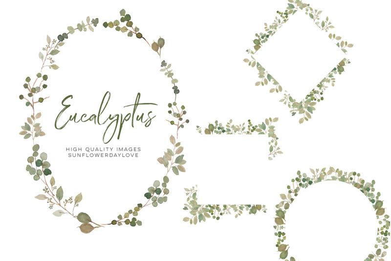eucalyptus-clipart-green-wreath-wedding-greenery