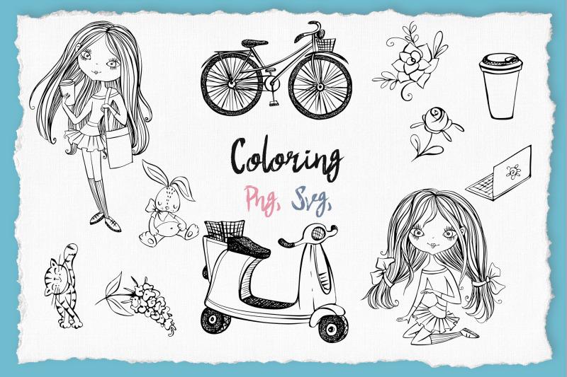 cute-teen-girls-3-digital-clipart-fashion-girls-valentine-039-s-day