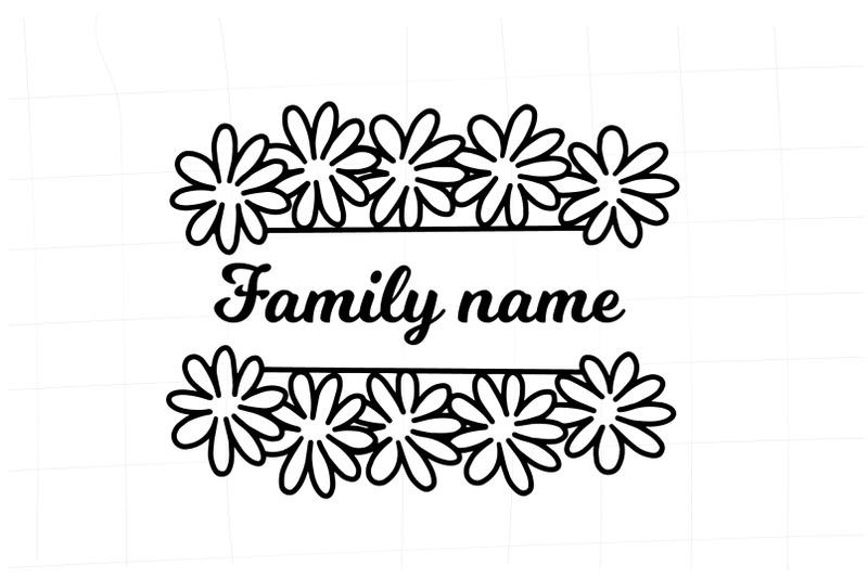 chamomile-split-border-svg-gerbers-split-border-floral-frame-svg