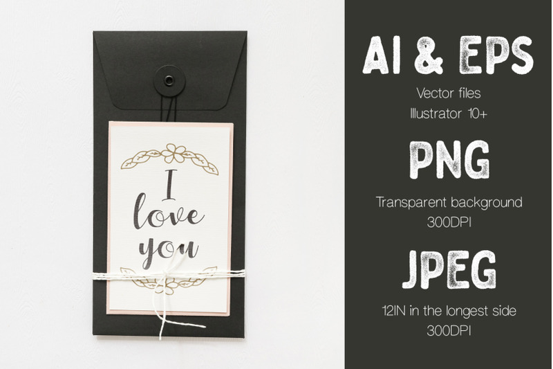 valentine-039-s-day-calligraphy-and-roses-vector-illustrations