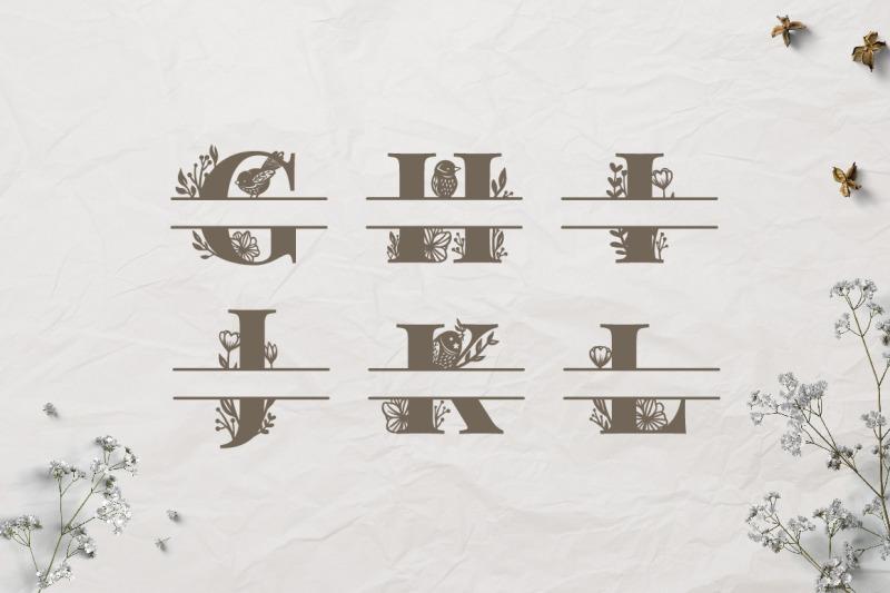rustic-birds-and-florals-split-alphabet-monograms-svg-cut-files