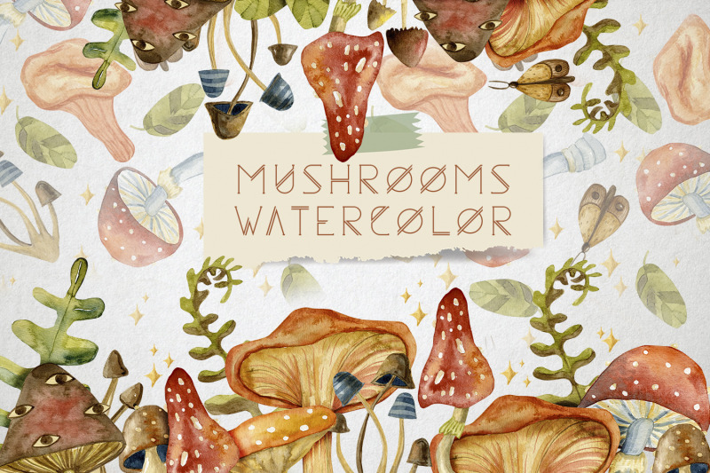 watercolor-mushrooms