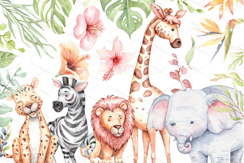 watercolor-safari-animals-and-jungle-element-images