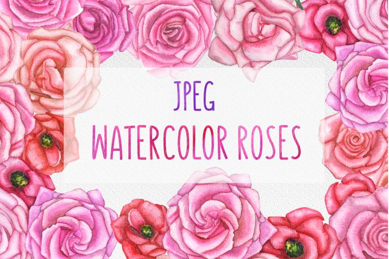 watercolor-set-of-hand-drawn-roses