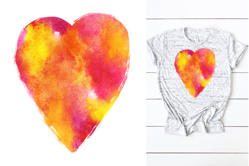 love-watercolor-design-for-sublimation-on-t-shirt