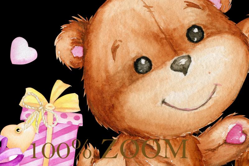 watercolor-clipart-tandem-bike-teddy-bear-couple-heart-love-coup