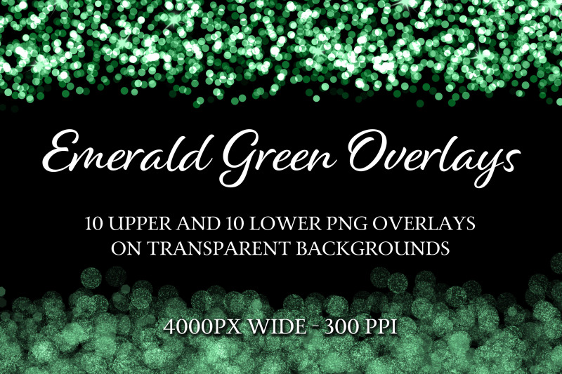 emerald-green-overlays-10-upper-and-10-lower-png-overlays