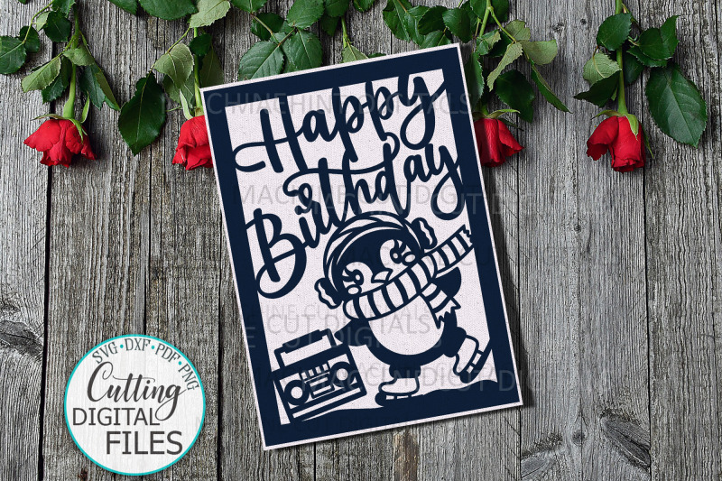 funny-penguin-birthday-card-svg-dxf-cut-out-template