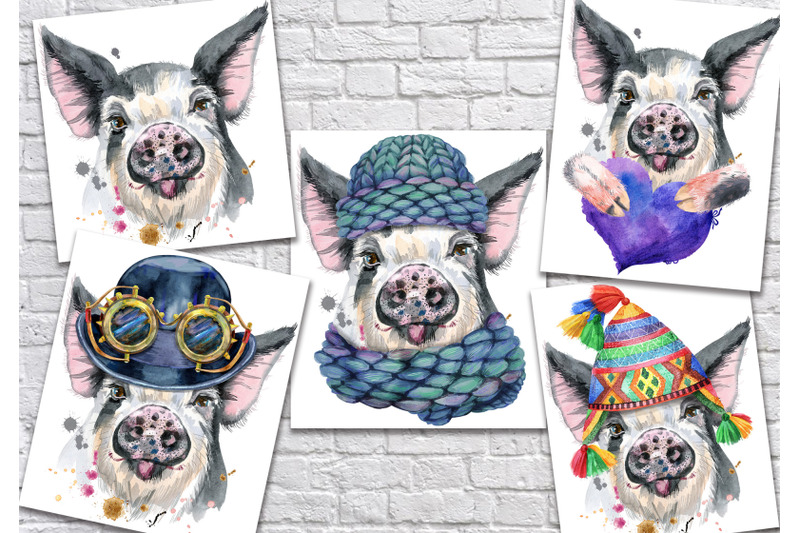 cute-watercolor-pig