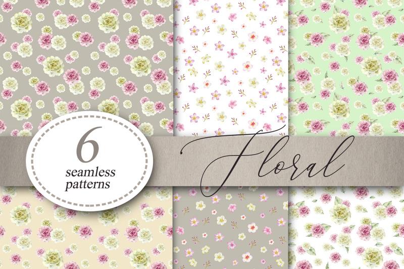 floral-flowers-patterns-digital-paper-seamless-patterns