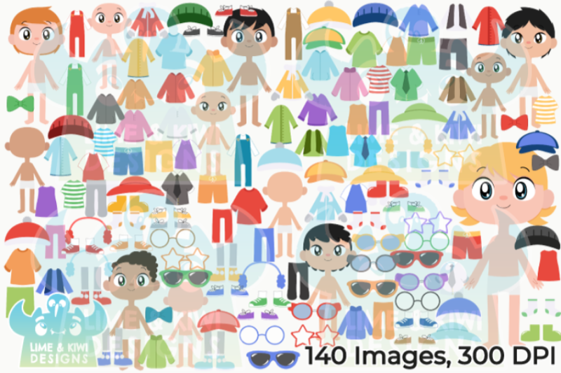 paper-dolls-boys-clipart-lime-and-kiwi-designs