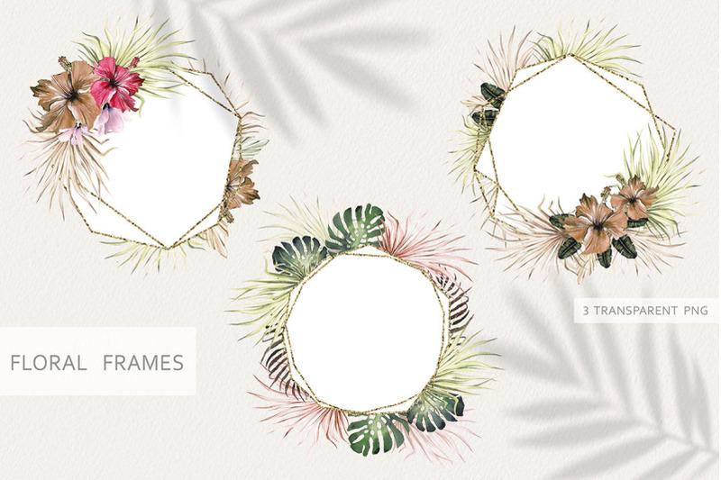 watercolor-tropical-frames