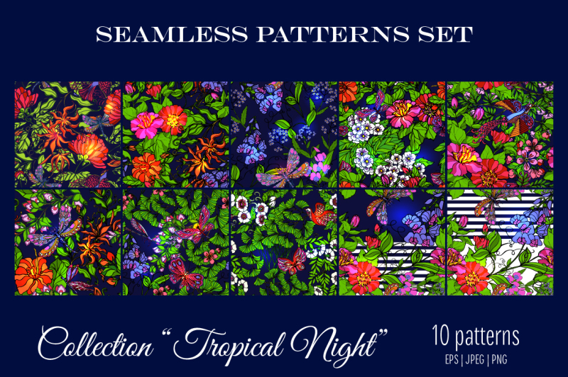 10-tropical-seamless-patterns