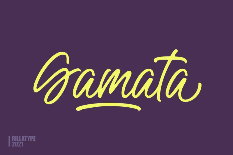 gamata-brush-script