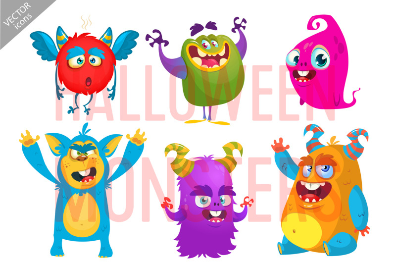 cartoon-monsters-vector-set-halloween-design