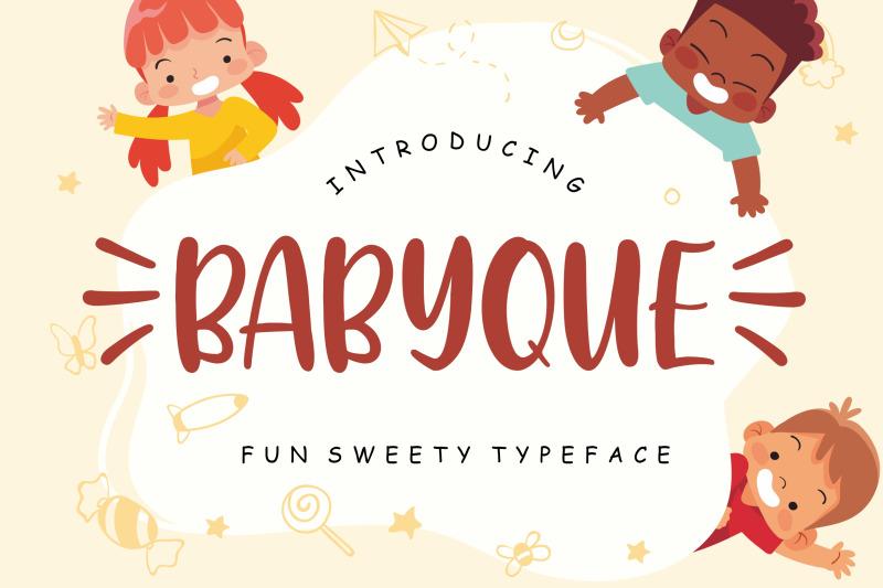 babyque-fun-sweety-typeface