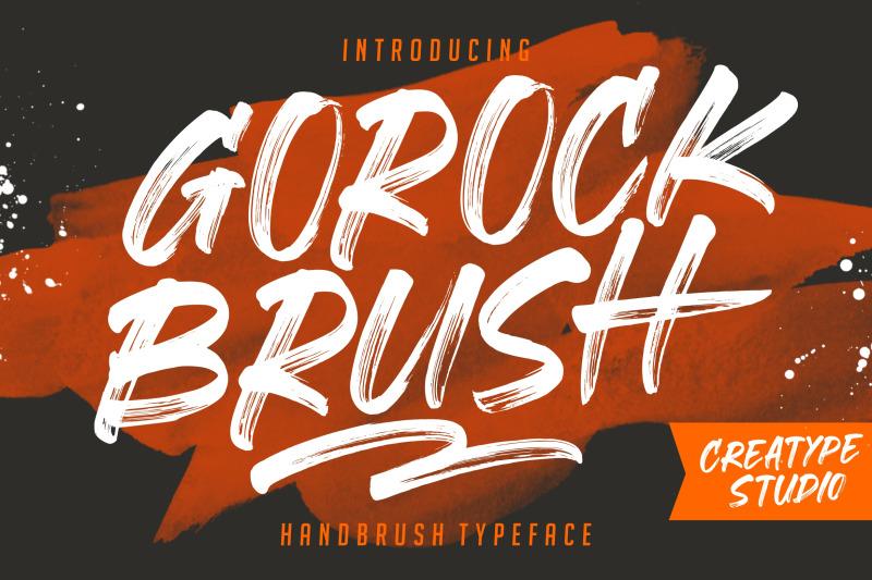 gorock-brush-typeface