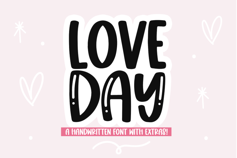 love-day-handwritten-font-with-valentine-039-s-doodles