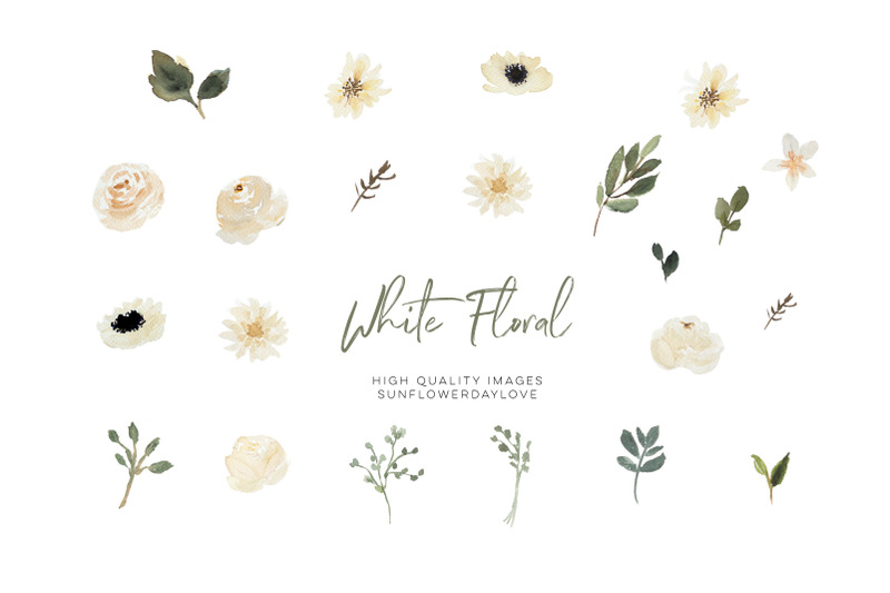 cream-beige-floral-clipart-watercolor-bouquets-bohemian-boho