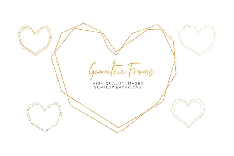 gold-geometric-frame-gold-polygonal-frames-clipart-geometric-gold