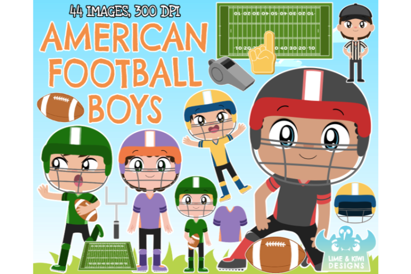 american-football-boys-clipart-lime-and-kiwi-designs