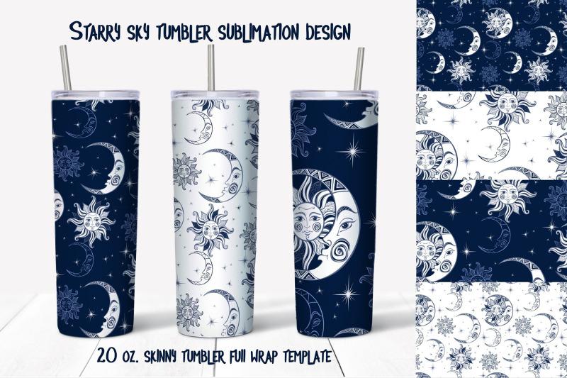 starry-sky-design-skinny-tumbler-wrap-design