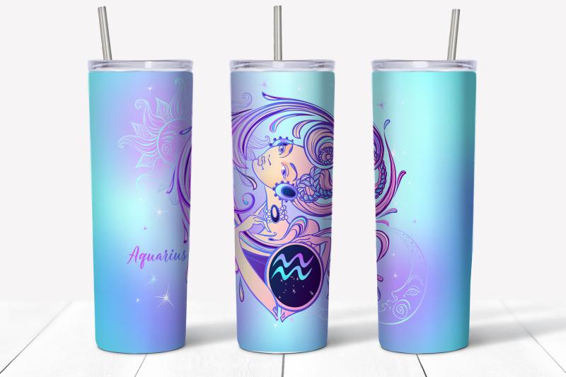 design-of-zodiac-sign-aquarius-skinny-tumbler-wrap-design