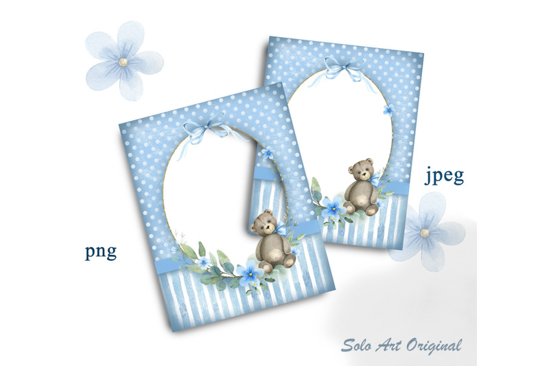 baby-boy-frame-baby-shower-teddy-bear