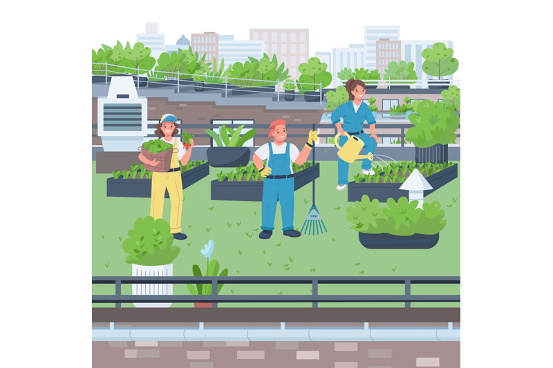 woman-gardeners-flat-color-vector-illustration