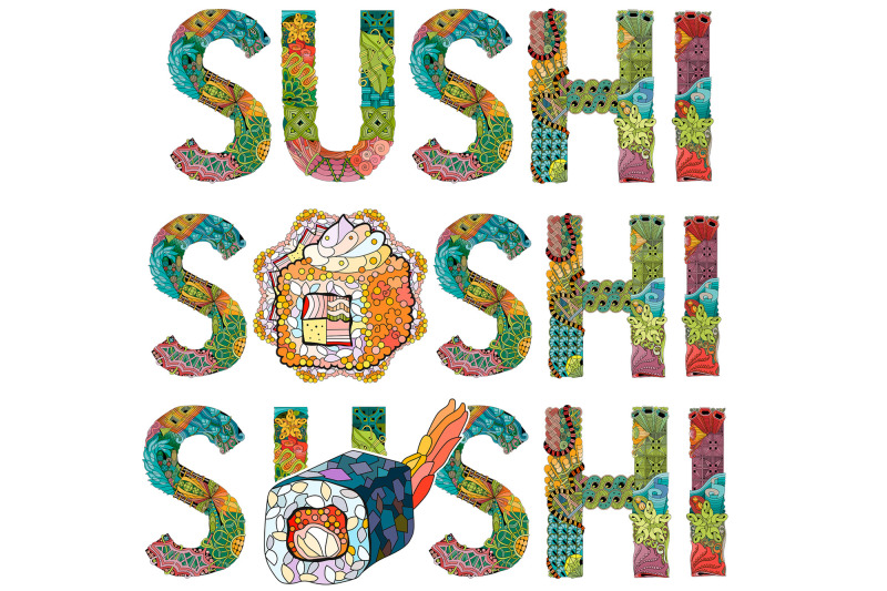 sushi-zentangle-doodle-objects