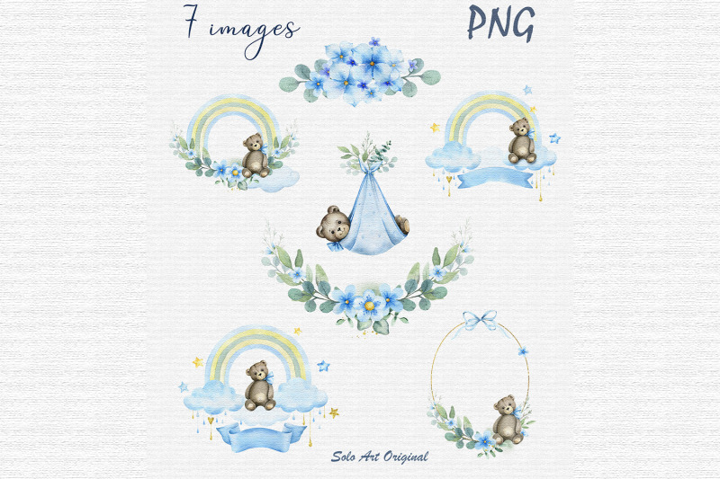 baby-boy-shower-clipart-invitations-frame-wreath-watercolor